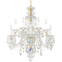 Schonbek 3601-211A Sterling 12 Light Aurelia Chandelier Ceiling Light in Spectra