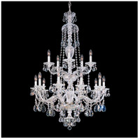Schonbek 3608-40A Sterling 15 Light Silver Chandelier Ceiling Light in Spectra