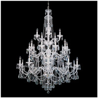 Sterling 25 Light 45 inch Silver Chandelier Ceiling Light in Polished Silver, Clear Heritage