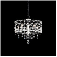 Schonbek TC1018N-59A Bella Rose 5 Light Ferro Black Chandelier Ceiling Light in Cast Ferro Black