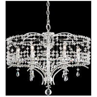 Schonbek TC1024N-40A Bella Rose 6 Light Polished Silver Chandelier Ceiling Light in Cast Polished Silver