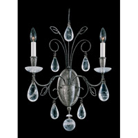 Schonbek Tesoro 2 Light Wall Sconce in Antique Pewter and Clear Rock Crystal Trim 9702-47 photo thumbnail