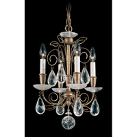 Schonbek Tesoro 4 Light Chandelier in Bronze Gold and Clear Rock Crystal Trim 9704-28