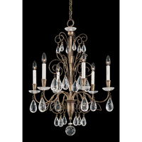 Schonbek Tesoro 6 Light Chandelier in Bronze Gold and Clear Rock Crystal Trim 9706-28 photo thumbnail