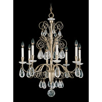 Schonbek Tesoro 8 Light Chandelier in Silvergild and Clear Rock Crystal Trim 9708-91