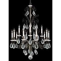 Schonbek Tesoro 15 Light Chandelier in Dusk and Clear Rock Crystal Trim 9715-54