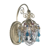 Schonbek The Rose 1 Light Wall Sconce in Heirloom Gold and Mint Julep Vintage Crystal Colors Trim 1415-22MJ photo thumbnail