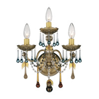 Schonbek The Rose 3 Light Wall Sconce in Heirloom Gold and Autumn Vintage Crystal Colors Trim 1423-22AN photo thumbnail