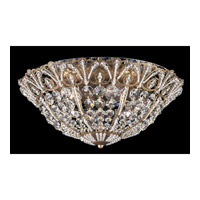 Schonbek Tiara 6 Light Flush Mount in Etruscan Gold and Clear Spectra Crystal Trim 9802-23