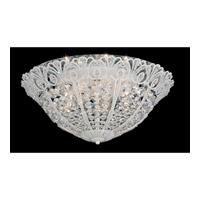 Schonbek Tiara 9 Light Flush Mount in French Lace and Clear Spectra Crystal Trim 9803-32