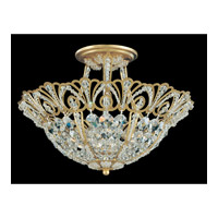 Schonbek Tiara 5 Light Semi Flush Mount in Heirloom Gold and Clear Spectra Crystal Trim 9841-22