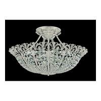 Schonbek Tiara 17 Light Semi Flush Mount in Heirloom Silver and Clear Spectra Crystal Trim 9845-44 photo thumbnail