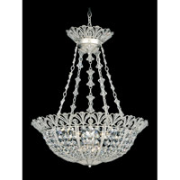 Schonbek Tiara 9 Light Pendant in Antique Silver and Clear Spectra Crystal Trim 9849-48