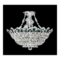 Schonbek Trilliane 8 Light Semi Flush Mount in Silver and Clear Spectra Crystal Trim 5796A