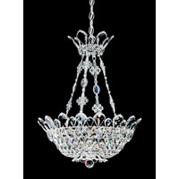 Trilliane 8 Light 19 inch Silver Pendant Ceiling Light in Clear Swarovski