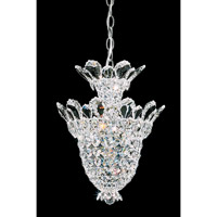 Schonbek Trilliane 5 Light Pendant in Silver and Crystal Swarovski Elements Trim 5846S