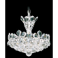 Trilliane 4 Light 11 inch Silver Pendant Ceiling Light in Clear Swarovski Elements