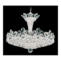 Trilliane 15 Light 25 inch Silver Pendant Ceiling Light in Clear Swarovski