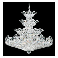 Schonbek Trilliane 37 Light Chandelier in Silver and Crystal Swarovski Elements Trim 5856S