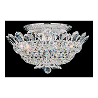 Trilliane 8 Light 19 inch Silver Semi Flush Mount Ceiling Light in Clear Swarovski