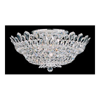 Schonbek Trilliane 10 Light Semi Flush Mount in Silver and Crystal Swarovski Elements Trim 5868S