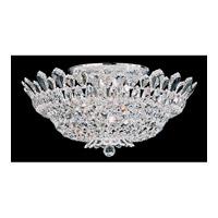 Schonbek Trilliane 10 Light Semi Flush Mount in Silver and Crystal Swarovski Elements Trim 5868S photo thumbnail