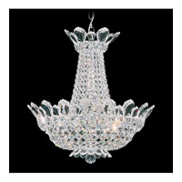 Schonbek Trilliane 12 Light Chandelier in Silver and Crystal Swarovski Elements Trim 5870S