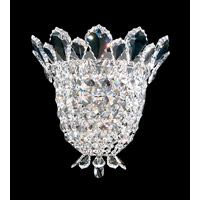Trilliane 3 Light 6 inch Silver Wall Sconce Wall Light in Clear Swarovski
