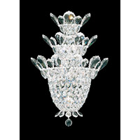Trilliane 4 Light 7 inch Silver Wall Sconce Wall Light in Clear Swarovski
