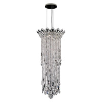 Trilliane Strands 4 Light 17 inch Stainless Steel Pendant Ceiling Light in Clear Heritage