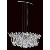 Schonbek Trilliane Strands 6 Light Pendant in Stainless Steel TR3611N-401H