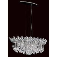 Schonbek TR3611N-401H Trilliane Strands 6 Light 19 inch Stainless Steel Pendant Ceiling Light in Clear Heritage