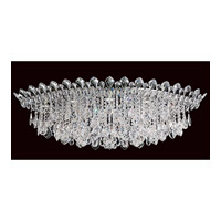 Trilliane Strands 8 Light 25 inch Stainless Steel Flush Mount Ceiling Light in Clear Heritage