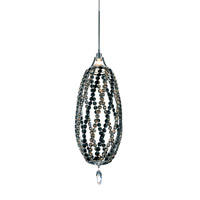 Schonbek Twist 1 Light Pendant in Stainless Steel and Jaguar Swarovski Elements Trim TW0515JAG
