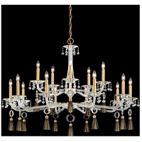 Schonbek GT1015N-55S Tassau 15 Light 42 inch Jet Black Chandelier Ceiling Light in Clear Swarovski