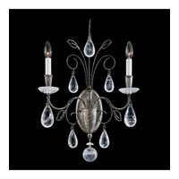 Schonbek Tesoro 2 Light Wall Sconce in Antique Pewter and Clear Rock Crystal Trim 9702-47
