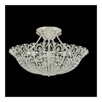 Schonbek Tiara 17 Light Semi Flush Mount in Heirloom Silver and Clear Spectra Crystal Trim 9845-44