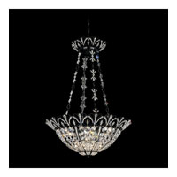 Schonbek Tiara 7 Light Pendant in Wet Black and Clear Spectra Crystal Trim 9847-55