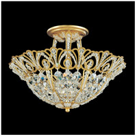 Schonbek 9841-22 Tiara 5 Light 15 inch Heirloom Gold Semi Flush Mount Ceiling Light