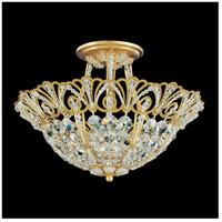 Schonbek 9841-22 Tiara 5 Light 15 inch Heirloom Gold Semi Flush Mount Ceiling Light