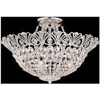 Schonbek 9843-48 Tiara 9 Light 20 inch Antique Silver Semi Flush Mount Ceiling Light