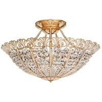Schonbek 9845-26 Tiara 17 Light 30 inch French Gold Semi Flush Mount Ceiling Light