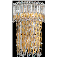 Schonbek LR1002N-401S Triandra 3 Light Polished Stainless Steel Wall Sconce Wall Light in Swarovski