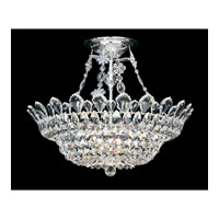 Schonbek Trilliane 10 Light Semi Flush Mount in Silver and Clear Spectra Crystal Trim 5797A