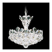 Schonbek Trilliane 4 Light Pendant in Silver and Crystal Swarovski Elements Trim 5852S