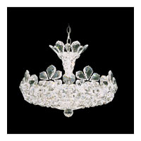 Schonbek Trilliane 12 Light Pendant in Silver and Crystal Swarovski Elements Trim 5854S