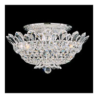 Schonbek Trilliane 8 Light Semi Flush Mount in Silver and Crystal Swarovski Elements Trim 5867S