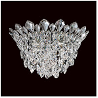 Schonbek TR1201N-401H Trilliane Strands 4 Light Stainless Steel Flush Mount Ceiling Light in Trilliane Strands Heritage