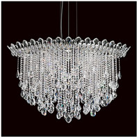 Schonbek TR4812N-401H Trilliane Strands 8 Light 25 inch Stainless Steel Pendant Ceiling Light in Clear Heritage