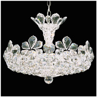 Schonbek 5854S Trilliane 12 Light 21 inch Silver Pendant Ceiling Light in Clear Swarovski